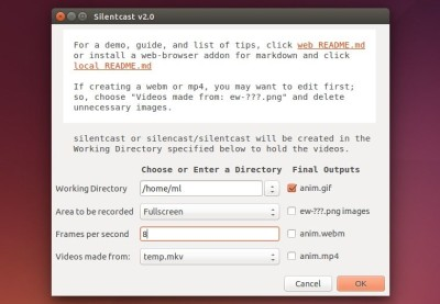 Ubuntu: 超赞的屏幕gif录制软件 Record Ubuntu Desktop in Animated GIF with Silentcast
