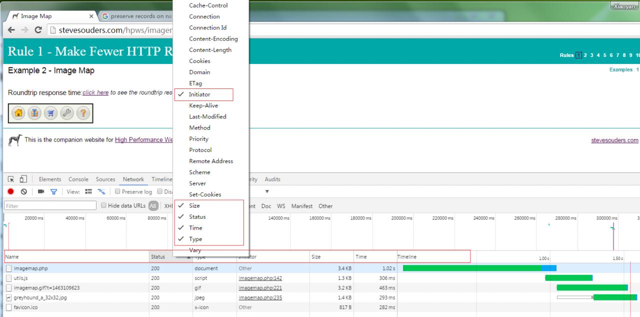 Chrome 开发工具 (Chrome Developer Tools):Network Panel说明