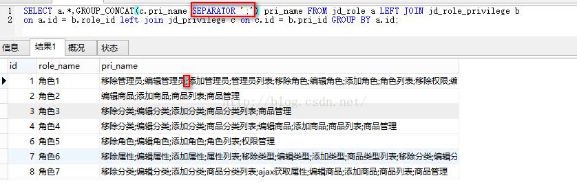 MySQL:多表查询, 连表操作和GROUP_CONCAT函数的使用, GROUP BY结合GROUP_CONCAT, GROUP_CONCAT DISTINCT multiple columns