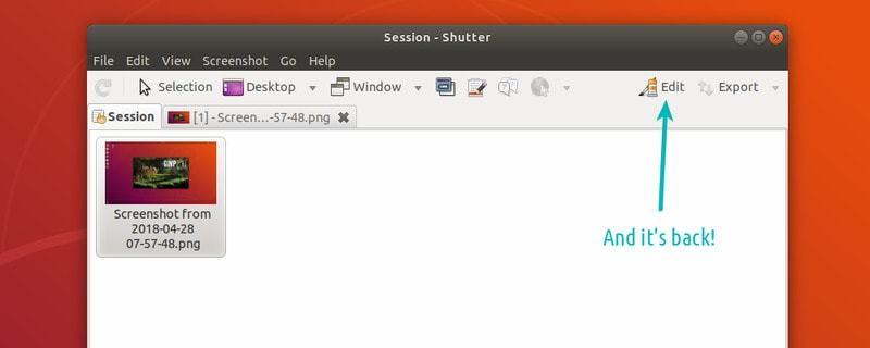 Ubuntu 18 编辑按钮失效, How To Fix Disabled Edit Option In Shutter in Ubuntu 18.04 & Mint 19