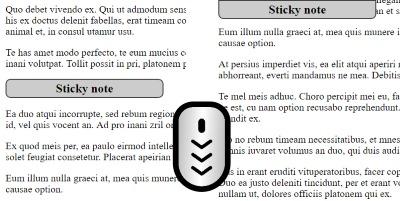 jQuery: 固定节点, 固定sidebar, 固定div, sticky header