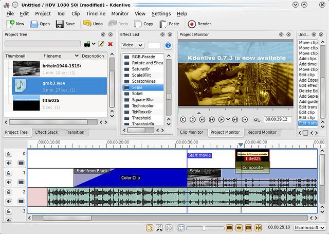 十一款 Linux 上的视频编辑软件横评