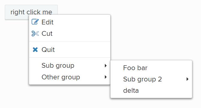 jQuery:自定义右键菜单 contextMenu