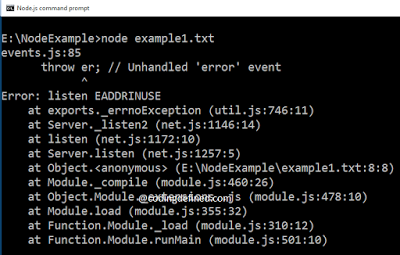Node.js listen EADDRINUSE 错误解决 How to solve nodejs Error: listen EADDRINUSE