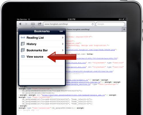 手机查看网页代码 How to View Website Source Codes on iPad / iPhone