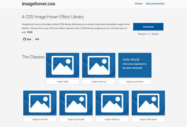 值得使用的CSS库添加图像悬停效果!