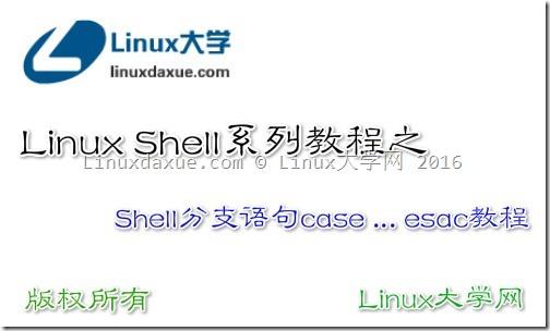 Linux Shell脚本入门教程系列之(十三)Shell分支语句case … esac教程