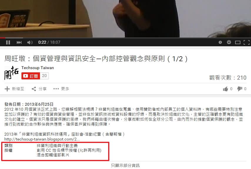 [法律授权] 我可以在自己的网站上使用那支影片吗? Youtube、Vimeo、Vine,Instgram