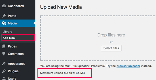 wordpress:增加上传文件限制, How to Increase the Maximum File Upload Size in WordPress