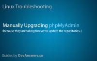 手动升级phpMyAdmin, How to Manually Upgrade phpMyAdmin
