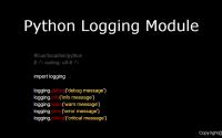 Python:logging模块详解, logging日志功能, logging实例