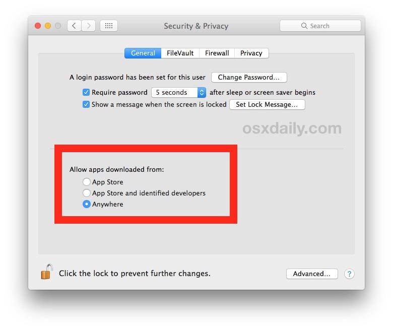 MAC: 报错unidentified developer, 如何在macOS Gatekeeper中随处允许应用程序(Mojave,Sierra,High Sierra),open an app from an unidentified developer, How to Allow Apps from Anywhere in macOS Gatekeeper (Mojave, Sierra, High Sierra)