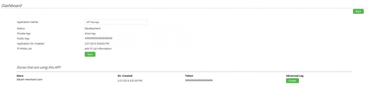 如何获得3dCart REST API,获取3dCart的token,private key