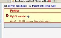 分析MySQL Server has gone away报错, MySQL Server has gone away解决方案