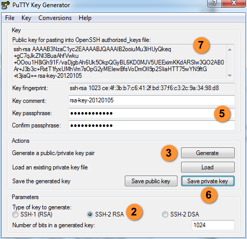 Windows下手动生产 SSH Key, PuTTY集成ssh key, windows下生产RSA密钥, 生成ppk密钥, Manually generating your SSH key in Windows