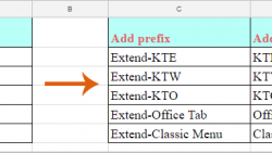 如何在Google表格的单元格值中添加前缀或后缀?, How To Add Prefix Or Suffix Into Cell Values In Google Sheets?