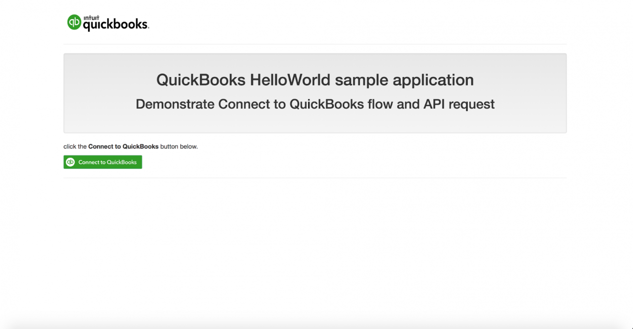 QuickBooks App 开发教程:PHP 创建你的第一个App, Build your first app
