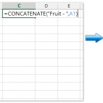 Excel添加前缀或者后缀, Excel 自定义合并文本, Excel 公式CONCATENATE的用法, Excel CONCATENATE函数, How To Add Prefix Or Suffix To Range Of Cells In Excel?