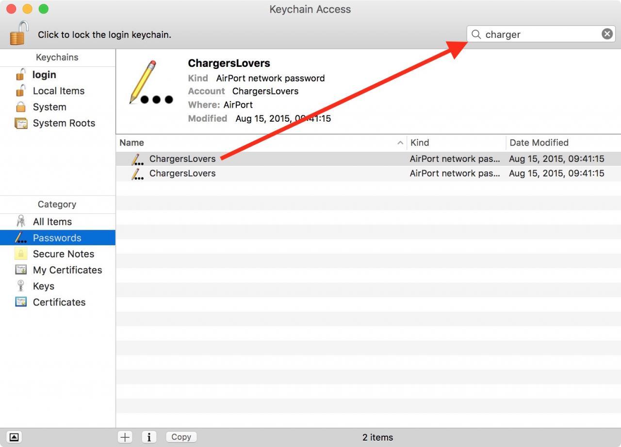 苹果电脑显示WiFi密码,查看热点密码,How to show a Wi-Fi password on macOS