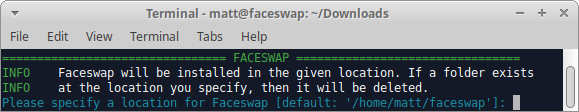 Linux AI视频换脸软件, Linux 安装Deepfakes软件, Linux 安装Faceswap指南, [Guide]Linux Install Guide: Installer Method