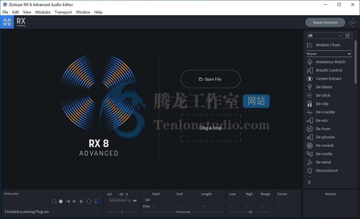 音频处理软件iZotope RX8破解版, iZotope RX 8 Audio Editor Advanced 破解, 去人声软件, 音频后期制作