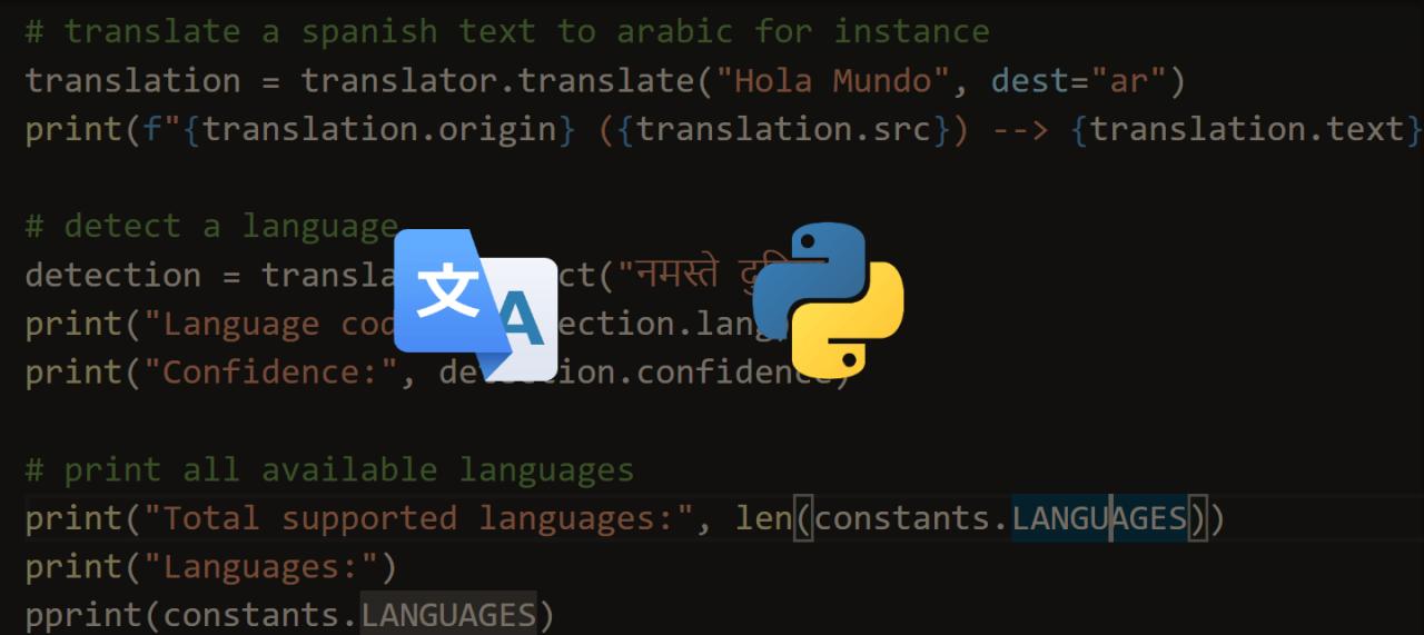 Python 谷歌翻译, Python 语言翻译, How to Translate Languages in Python