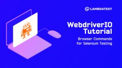 WebDriverIO 教程三:Selenium 测试的浏览器命令,  Browser Commands for Selenium Testing, WebDriverIO 教程, WebDriverIO 入门